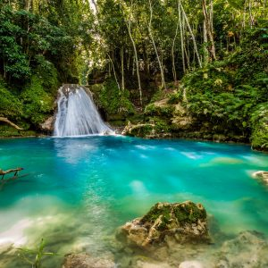 Blue hole in the middle of Jamaica
